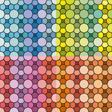 Vector set of abstract seamless patterns and backgrounds. JPG and EPS 10 Royalty Free Stock Image