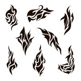 Vector set of abstract silhouette tattoo Stock Image