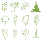 Vector set of abstract trees Stock Photos