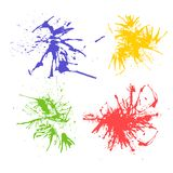 Vector Set of Abstract Watercolor art hand paint Royalty Free Stock Photography