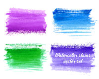 Vector set of abstract watercolor background with paper texture. Royalty Free Stock Photography