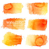 Vector set of abstract watercolor background with paper texture. Stock Photo
