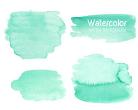 Vector set of abstract watercolor background with paper texture. Stock Photos