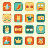 Vector set with achievement and awards badges Stock Photo