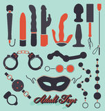 Vector Set: Adult Toys Icons and Symbols stock illustration