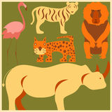 Vector set of African animals Stock Photography