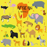 Vector set African animals. Royalty Free Stock Photography
