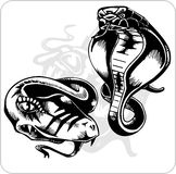 Vector Set - Aggressive Cobra. Royalty Free Stock Image
