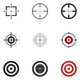 Vector Set of Aiming Icons. Target Symbols. Royalty Free Stock Images
