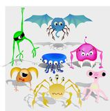 Vector set of aliens Royalty Free Stock Image