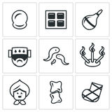 Vector Set of Alternative Medicine Icons.  Stock Photography
