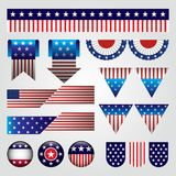 Vector set of american banners Royalty Free Stock Images