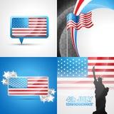 Vector set of american flag design Stock Image