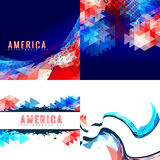 Vector set of american independence day background illustration Royalty Free Stock Photography