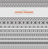 Vector set of ancient borders Stock Photo