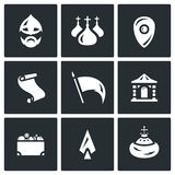 Vector Set of Ancient Russia Icons.   Royalty Free Stock Photo