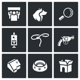 Vector Set of Animal Protection Icons. Stock Image