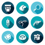 Vector Set of Animal Protection Icons.  Royalty Free Stock Image