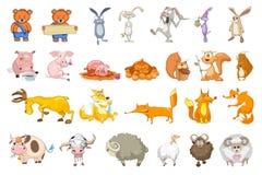 Vector set of animals illustrations. Stock Photos