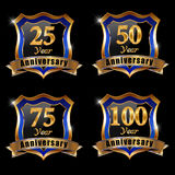 Vector set of anniversary elements royalty free illustration