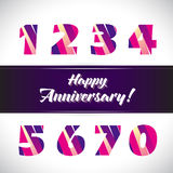Vector set of anniversary signs, symbols. Stock Images