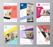 Vector set of annual report brochure displaying fashion background Stock Photography