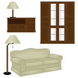 Vector set of antique furniture Stock Images