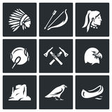 Vector Set of Apaches Icons. Royalty Free Stock Photo