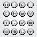 Vector set:  aqua-style glossy buttons Stock Photography