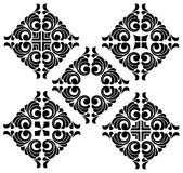 Vector set of arabic ornaments Royalty Free Stock Photography
