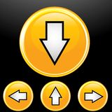 Vector set of arrow button Royalty Free Stock Image