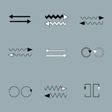 Vector Set of  arrows on grey backround Royalty Free Stock Photos