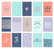 Vector set of art cards. Use for wedding Stock Images