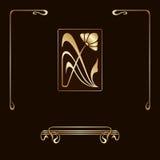 Vector set of art nouveau decorative elements. Royalty Free Stock Photo