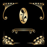 Vector set of art nouveau decorative elements. Stock Image