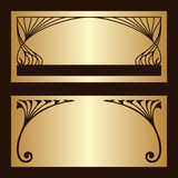 Vector set of art nouveau decorative elements. Stock Images