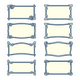 Vector set of art nouveau frames for print and design. Stock Photos