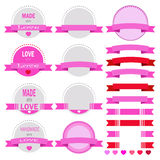 Vector set of artistic valentines day Stock Image