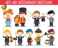 Vector Set of Arts and Entertainment Professions Royalty Free Stock Photography