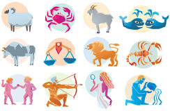 Vector set astrology sign. Royalty Free Stock Photo