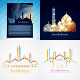 Vector set of attractive background of eid festival Stock Images