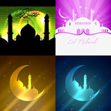 Vector set of attractive background of eid festival Stock Photos