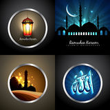 Vector set of attractive background of eid festival Royalty Free Stock Images