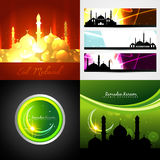 Vector set of attractive background of eid festival Stock Image