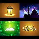 Vector set of attractive background of ramadan kareem festival Royalty Free Stock Photography