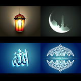 Vector set of attractive background of ramdan kareem festival Royalty Free Stock Photo