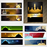vector set of attractive banner of eid festival Royalty Free Stock Photo