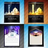 Vector set of attractive brochure design illustration of eid fes Royalty Free Stock Photo