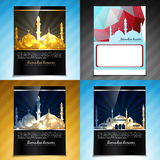 Vector set of attractive brochure design illustration of eid fes Royalty Free Stock Photography