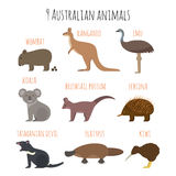 Vector set of Australian animals icons. Stock Photography